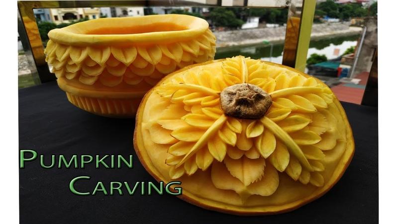 Pumpkin new design | By BÀN TAY ĐEN carving watermelon pumpkin