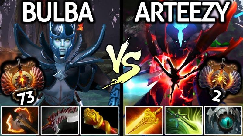 Arteezy Spectre VS Bulba Phantom Assassin | Battle Carry Top Ranked US 7.20 Dota 2