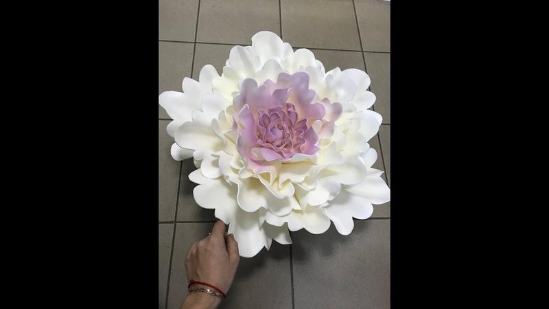 Часть 2 сборка цветка пиона из изолона Светильник