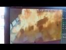 Момент взрыва на АЗС возле Новоросса