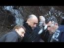 02 04 2013 В кінці засідання ВР коли всі розходилися по домах свободівці тепло проводжали регіоналів додому сніжками
