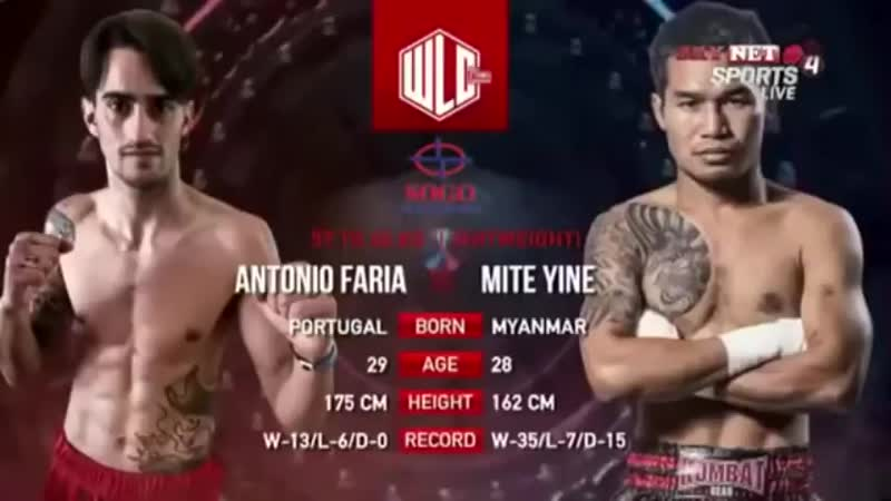 2. မိုက္႐ုိင္း -Mite Yine(Myanmar) vs. Antonio Alberto Faria(Portugal)