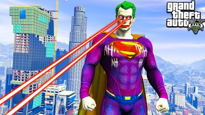 КАК СУПЕРМЕН СТАЛ ДЖОКЕРОМ В ГТА 5 МОДЫ! JOKER SUPERMAN ОБЗОР МОДОВ В GTA 5! ИГРЫ ГТА ВИДЕО MODS