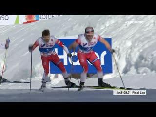 Жаркий финиш мужского масс-старта на ЧМ по лыжным гонкам