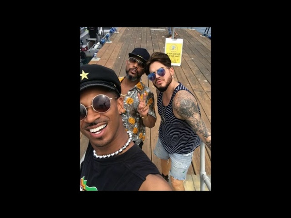 Adam and friends on a boat trip to Catalina Island, Pharaoh at home, August 9