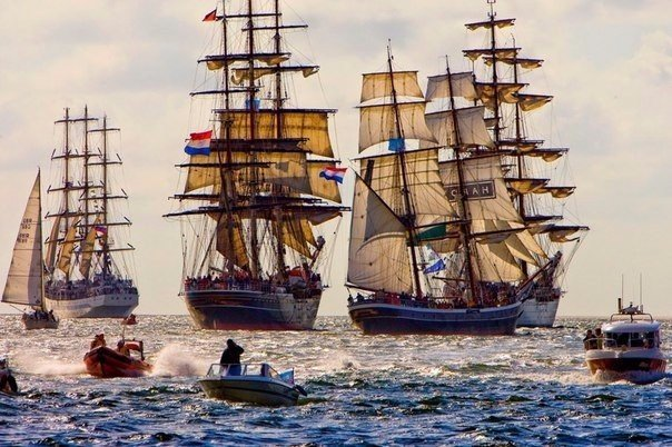 Раз в 5 лет в Амстердаме проходит парад кораблей SAIL Amsterdam