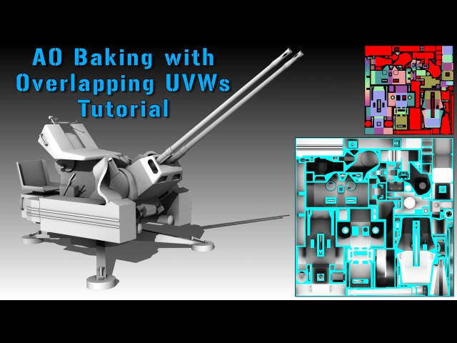 3DsMax AO Baking with Overlapping UVWs Tutorial