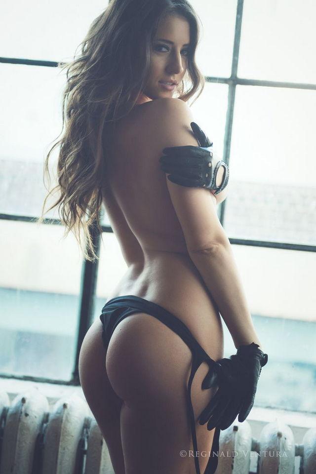 Sexy brunette bikini nude