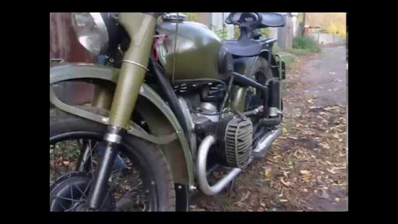 Мотоцикл Урал М72 после восстановления