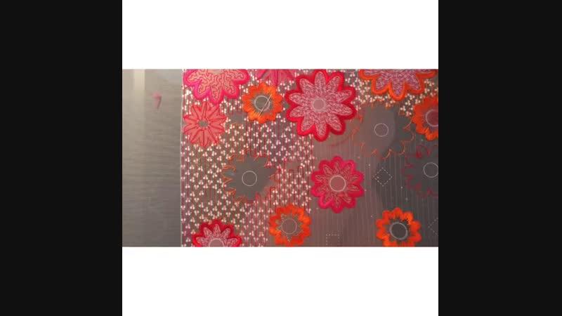 процесс вышивки Узор Annees 60 от Carolina Dal Pino