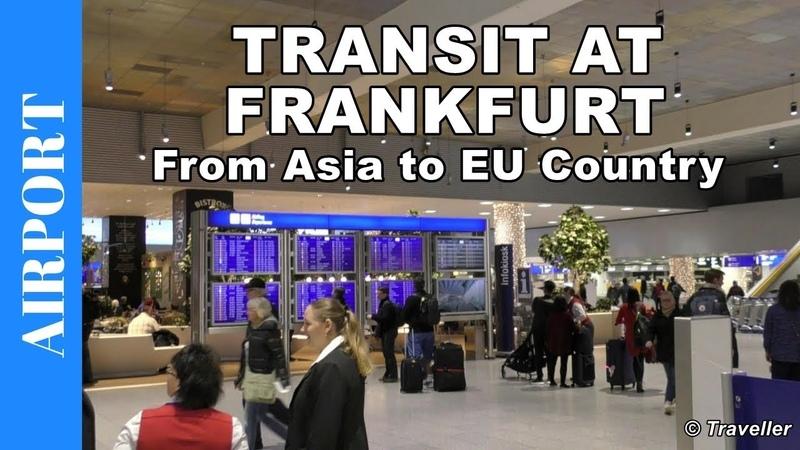 Transfer Walk at Frankfurt Airport, Terminal 1 - Connection Flight - Asian to EU Flight Transfer
