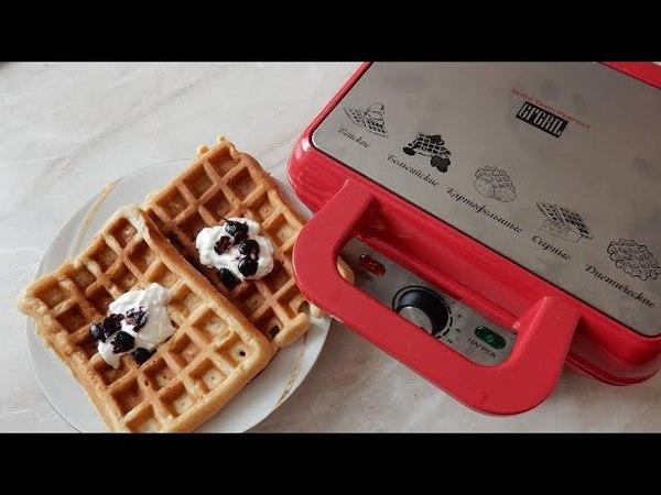 Нежные яблочные вафли в электровафельнице GFW-015 Waffle Plus