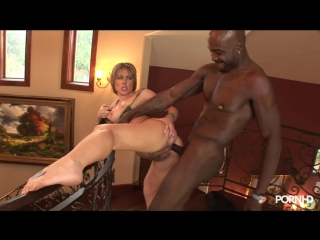 Thick blonde with nice ass gets fucked in her asshole   interracial   anal