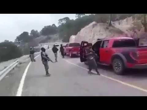 La caravana del CJNG, por la sierra de Nayarit