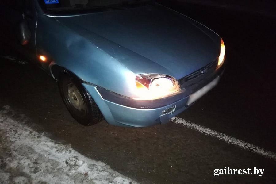 В Столинском районе женщина сбила пьяного пешехода рекордсмена-нарушителя