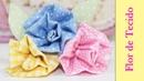 Flor de Tecido Como Fazer Artesanato Tecido Passo a Passo Segredos de Aline