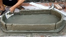 Idea of making rockery from styrofoam Creative construction Rockery from the sand and cement