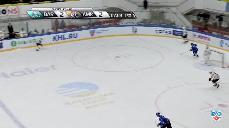 Моменты из матчей КХЛ сезона 1415 • Гол. 23. Зуб Артём (Амур) от синей в ближний 14.10