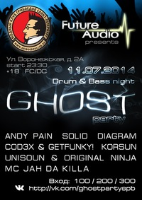 11.07.2014 FUTURE AUDIO  presents GHOST Party