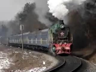 Паровоз Су251-86 с поездом Джерело,перегон Сихв - Давидв.
