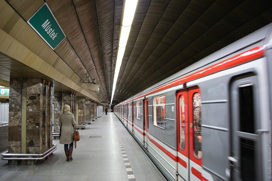 метро Чехия Прага станция билет эскалатор проезд