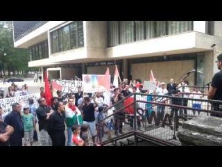 Митинг в поддержку езидов Шангала в Швеции город Норчепинге (Norrköping)