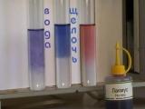 Распознавание растворов щелочи, кислоты и воды с помощью лакмуса