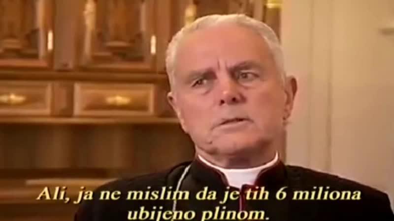 ISTINA SE KAŽNJAVA ZATVOROM ~ Biskup Williamson o Holokaustu • Hrvatski prijevod Robert Tonja