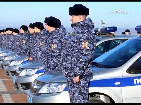 Самарским Росгвардейцам вручили ключи от новых служебных автомашин (ТРК Губерния)