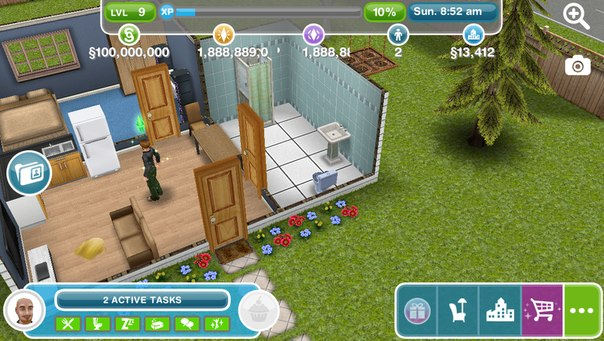 Взлом The Sims FreePlay на IOS. Взлом: 1) Закройте игру в многозадачности