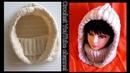 كروشية زنط ب كولة Crochet Hooded Scarf / Hooded Cowl