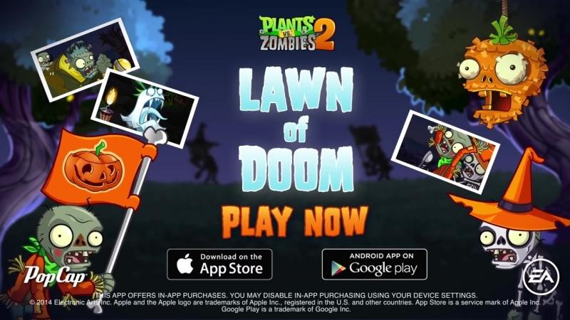 Plants vs Zombies 2 Lawn Of Doom Trailer