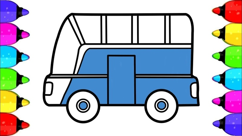 School Bus Coloring Pages to print How to Drawing Bus Coloring Pages for kids Learn colouring
