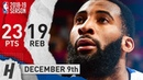 Andre Drummond Full Highlights Pistons vs Pelicans 2018 12 09 23 Pts 19 Rebounds