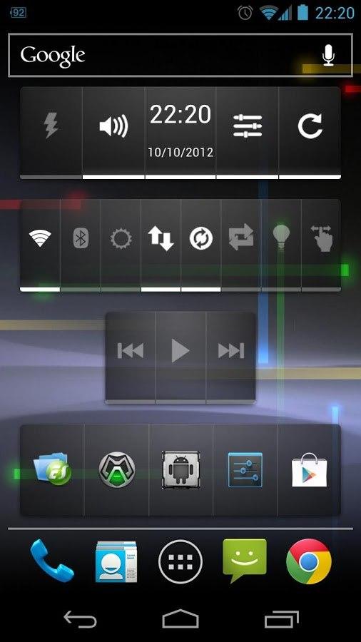 Widgetsoid - бесплатный виджет для Android