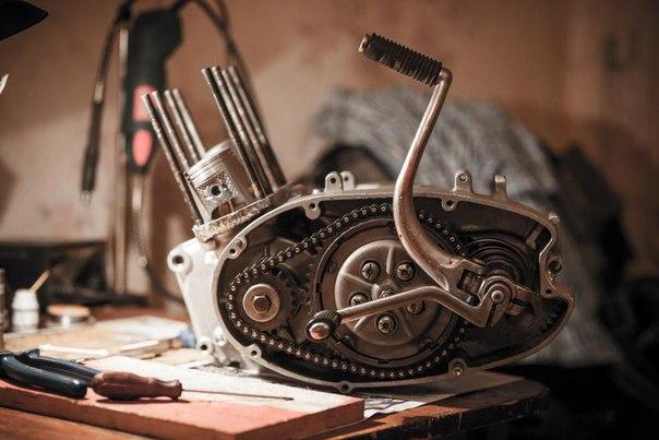 общая схема двигателя Иж