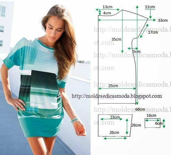 Выкройки трикотажных платьев с фото