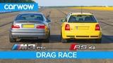 BMW M3 CSL vs Audi RS4 B5 - DRAG RACE, ROLLING RACE &amp Review