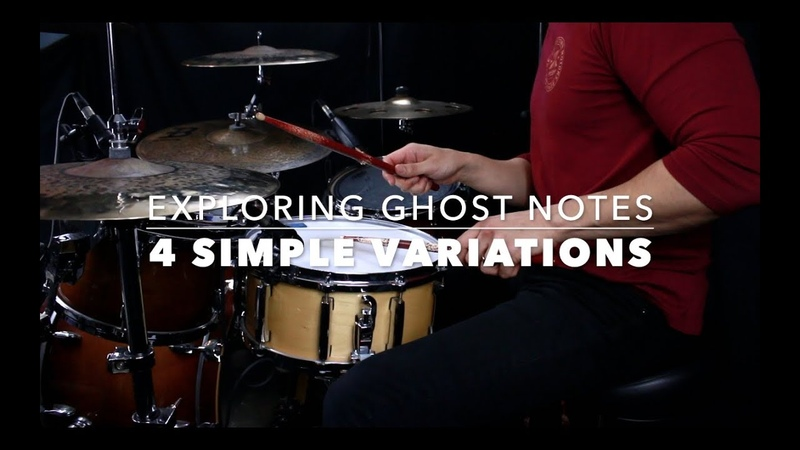 4 Simple Ghost Note Variations for Grooves- Drum Lesson with Eric Fisher