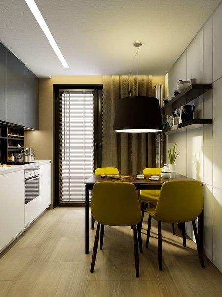 Маленькая кухня , 9 кв.м. (1 фото) - картинка