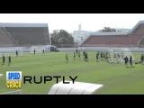 Россия Сборная по футболу готовится к своему первому матчу на чемпионате мира