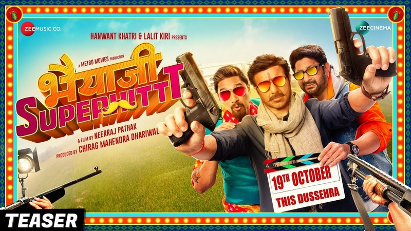 Bhaiaji Superhit - Teaser   Sunny Deol, Preity Zinta, Arshad Warsi Shreyas Talpade   Coming 19Oct