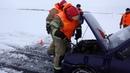 На ледовой переправе Зеленодольск – Нижние Вязовые ликвидировали условную ЧС.