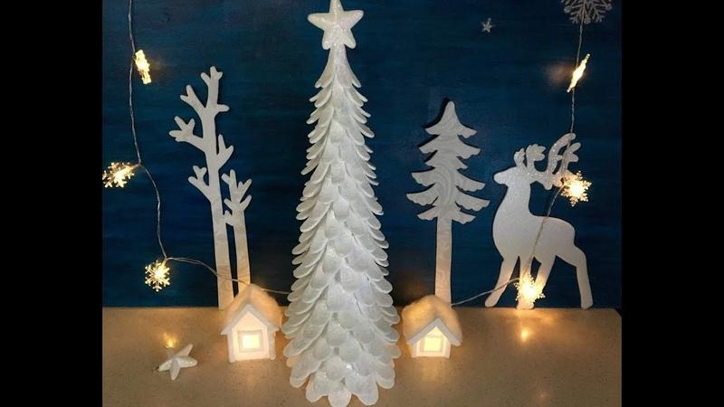 МК- Ёлочка! Новогодний декор! Christmas decor. Christmas tree made of Styrofoam