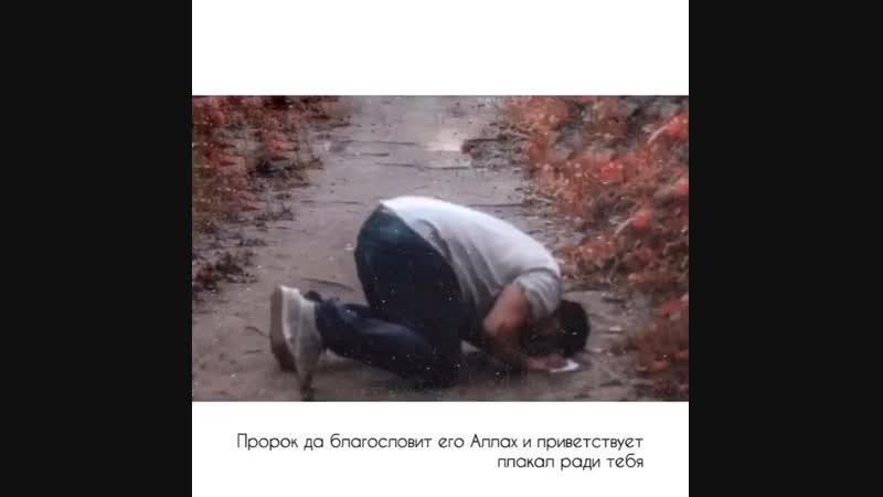 Пророк да благословит его Аллаh и приветствует плакал ради тебя