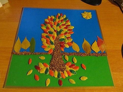 Дерево из семечек своими руками