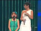 Shakira receiving an Award by Selena Gomez on Premios Juventud JULY 15 2010