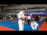 Всероссийские соревнования по киокусинкай каратэ Соловьев А. vs Коноваленко-3 ме ...