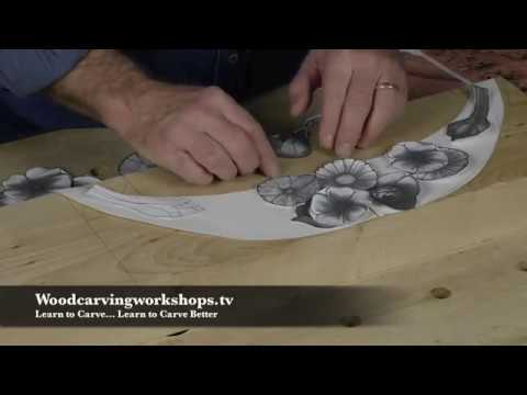 How to Design and Carve a Baroque Flower Swag