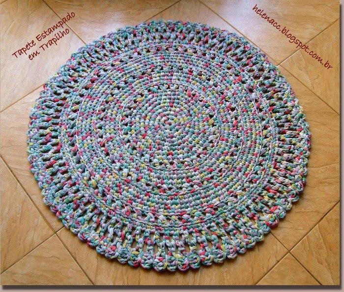 钩针圆地毯 - maomao - 我随心动